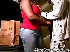 Ebony garage sex !!