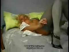 Sexiest british blonde nurse masturbation