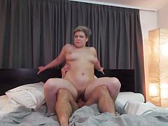 Horny bbw mature gets her hairy cunt pounded