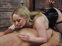 milf, facesitting, blonde, handjob, femdom, bdsm, big tits, corset, sex slave, coffin, divine bitches, kink, aiden starr, dj x