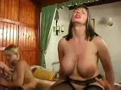 Big titted english milf josephone james and bev cox in hot 4some