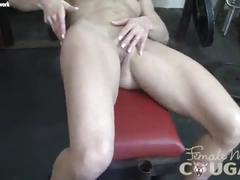 blonde, mature, masturbation, fit, gym, bodybuilder, fitness, small-tits, bodybuilding, female-muscle