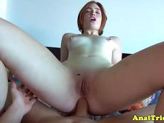 Anal girlfriend creampied in pussy