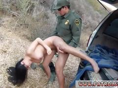 Audrey's police search xxx caught by cop anal patrol busty