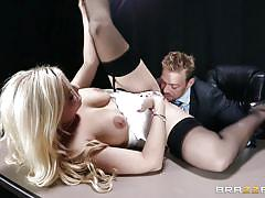 She gets her pussy licked hard