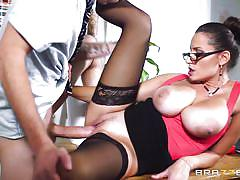 milf, big tits, romanian, school, stockings, pussy licking, cock sucking, on the table, big tits at school, brazzers network, danny d, sensual jane