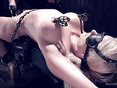 Blonde girl gets ultimate bondage experience