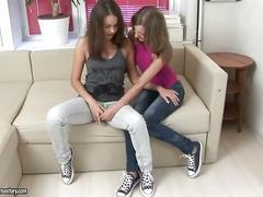 Cute teens having lesbian anal fun