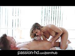 Passion-hd dick massage turns passion sex