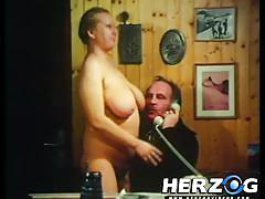 hairy, retro, vintage, busty milf, bbw mature, sucking tits, herzog videos