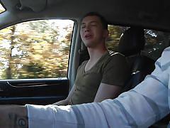 auto, hitchhiker, pick up, gay blowjob, gay, drill my hole, men, max bradley, jay rising