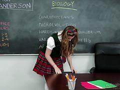 blonde, schoolgirl, teacher, deepthroat, classroom, from behind, busty babe, reality junkies, jillian janson, tony ribas