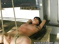 Slut gets a painful whipping