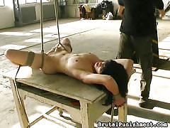 babe, torture, hanging, whipping, domination, photoshoot, rope bondage, black hair, brutal punishment, fetish network