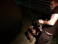 Two tortured girls fighting for a cock