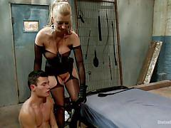threesome, bdsm, interracial, busty milf, gay blowjob, bbc, blonde mistress, starp on, divine bitches, kink, cherry torn, jason brown, micky mackenzie