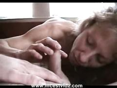 Amateur mother and son at home