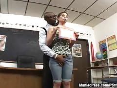 interracial, anal, maniacpass, teenager, young, ass-fuck, brunette, small-tits, teen, facial, piercing, shaved, reverse-cowgirl, school, skinny, big-dick, petite, black, bbc, natural-tits