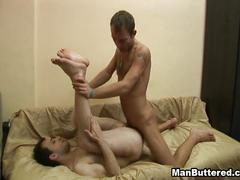Sweet bareback gay fucking,lovers delight