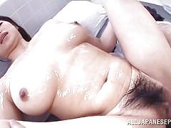 creampie, hairy, japanese, bubble butt, censored, riding cock, reverse cowgirl, pov, busty babe, o creampies, all japanese pass, akane yoshinaga
