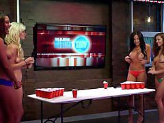 blonde, tv show, foursome, playboy, brunette, busty babes, role play, morning show, playboy tv, sarah marie, mariela henderson