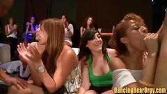 Ebony chick gets a face full of stripper jizz