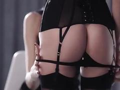 bdsm, foot fetish, lesbians, nylon, stockings