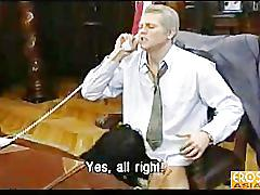 Bill and monica in the oval office (cigar edition)