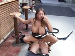 Busty german whore take a large dick