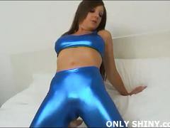 Busty amateur cate in tight blue spandex