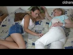 Old mature and young girls strip and masturbation