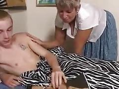 Mum catches me playing with my big cock