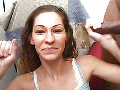 Valerie plays naughty with two horny dicks
