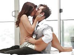 babe, kissing, romantic, brunette, undressing, petting, seducing, sexy lingerie, erotica x, logan pierce, ariana grand
