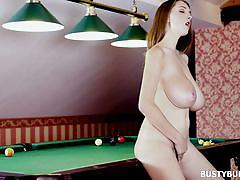 Billiard stick in the pussy