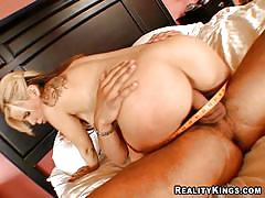 Busty blonde milf loves to have big cocks