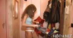 Adorable russian slut fucked by a stranger