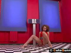 Hot sunny home striptease