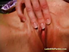 Sweet and horny latina orgy sex pasty.