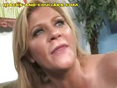 cumshot, facial, black, hardcore, blonde, sexy, interracial, milf, blowjob, mature