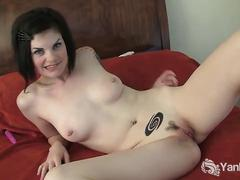 Tattooed slut masturbates and poses for you