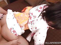 Mako gets fucked in a kimono