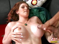 Big tits boss hired him as personal fuck toy