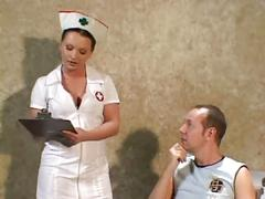 Nurse katja fucking in stockings a garter belt and uniform