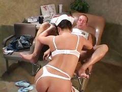 Nurse katja fucking in stockings a garter belt and uniform