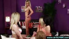 Cfnm british girls giving handjob to naked guy