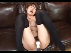 Vibrator and bukkake (censored)