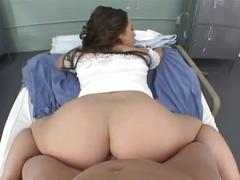 Slutty brunette nurse hardcore pov sex in hospital