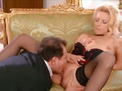 Gorgeous blond mommy fucked nicely in the ass