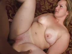 Sexy bbw milf gets bbc creampie (shes cute)